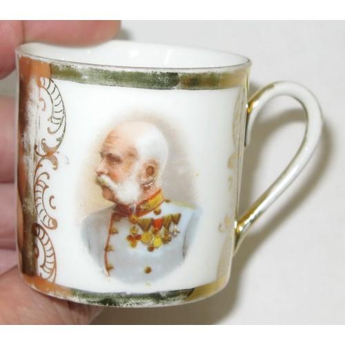 Patriotisches Heferl/Tasse Kaiser Franz Josef I.