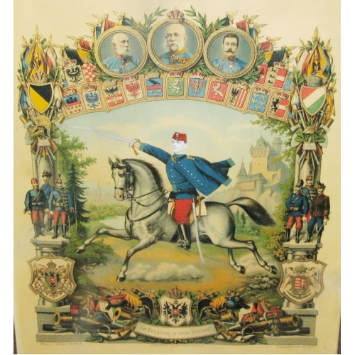 Österreich-Ungarn, Erinnerungsblatt, Zur Erinnerung an meine Dienstzeit