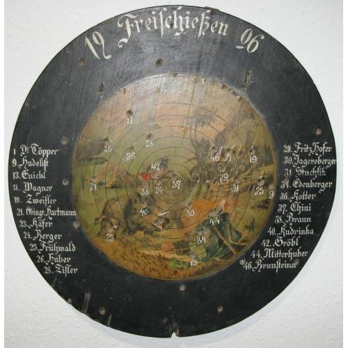 Schützenscheibe, Freischießen 1906