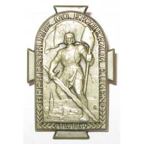 K. u. K. Kappenabzeichen, HEERESGRUPPE GO. ERZHERZOG EUGEN 1916