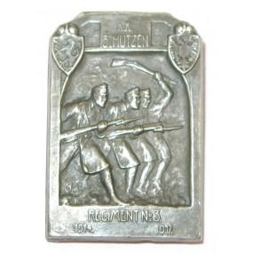 Echt Silbernes Kappenabzeichen, K.K.SCHÜTZEN-REGIMENT No 3 1914-1917