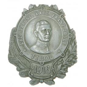 K. u. K. Kappenabzeichen, TIROL 1916-ERZH.THRONF.KARL FRANZ JOSEF