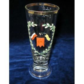 1. Weltkrieg Patriotisches Trinkglas, Vereint im Krieg, Vereint zum Sieg!