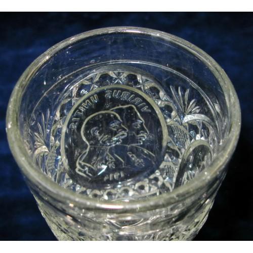 1. Weltkrieg Patriotisches Trinkglas, VIRIBUS UNITIS