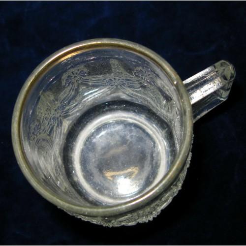 1. Weltkrieg Patriotisches Trinkglas/Henkelkrug