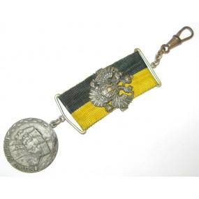 Patriotischer Taschenuhr Anhänger, VIRIBUS UNITIS 1914-1916