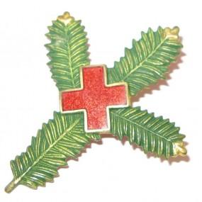 K. u. K. Kappenabzeichen, Tannenzweig mit rotem Kreuz 1914-15-16