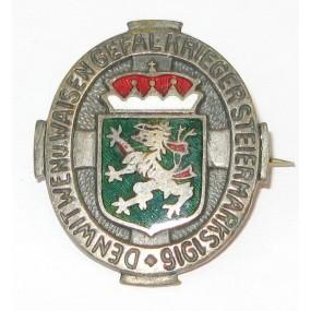 K.u.K. Patriotisches Abzeichen, Den Witwen und Waisen Gefallener Krieger Steiermarks 1916