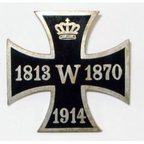 Patriotisches Eisernes Kreuz - Abzeichen 1813 - 1878 - 1914