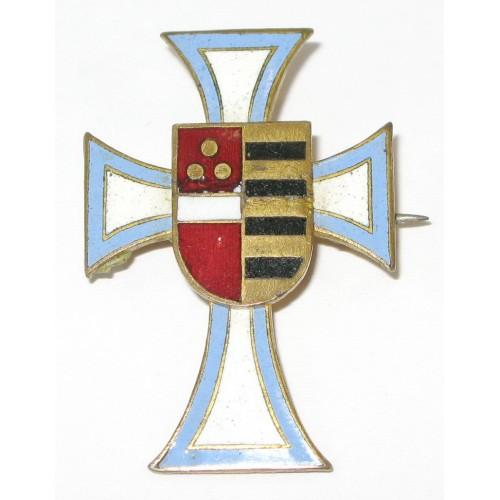 K.u.K. Kappenabzeichen,  IR 49 Freiherr v. HESS Hesser Kreuz