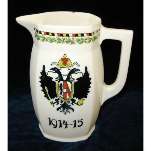 Patriotische Doppeladler - Kanne 1914 - 15
