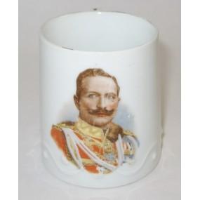 1. Weltkrieg Patriotisches Heferl/Tasse, Kaiser Wilhelm II.