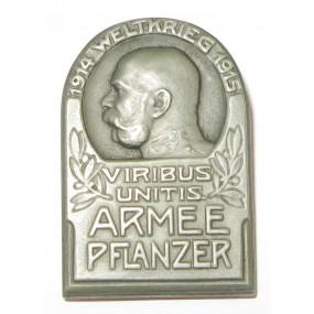 K. u. K. Kappenabzeichen, ARMEE PFLANZER - 1914 WELTKRIEG - 1915