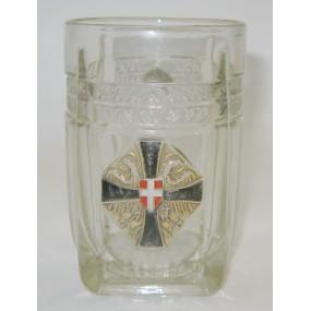 1. Weltkrieg Patriotischer Henkelkrug des Schwarz - Gelben - Kreuzes