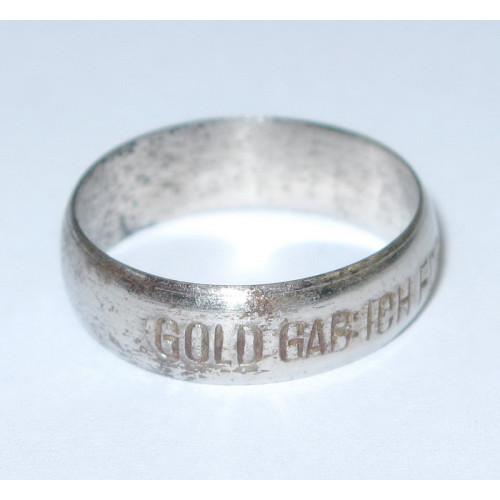 1. Weltkrieg patriotischer Fingerring, Gold gab ich für Eisen 1914 Ö.S.K.
