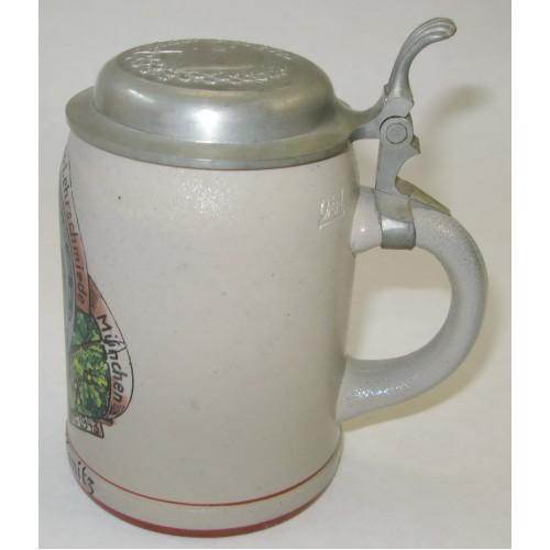 Reservistenkrug-Humpen-Bierkrug Heeres-Lehrschmiede München 1943