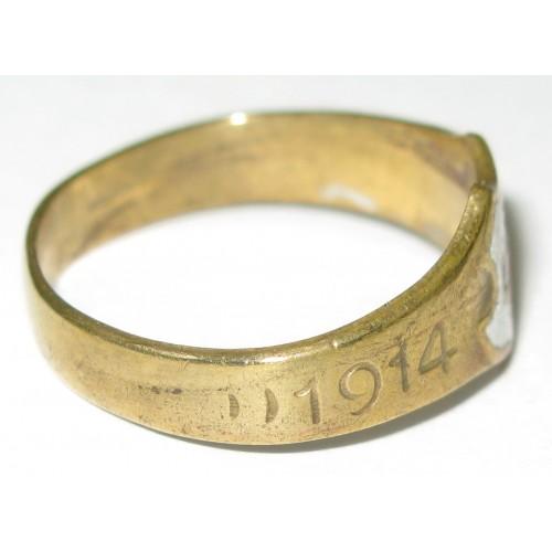 1. Weltkrieg patriotischer Fingerring, ROTES KREUZ 1914 - 1917