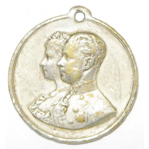 Hochzeitsmedaille Vermählung Kronprinz Rudolf mit Prinzessin Stefanie 1881