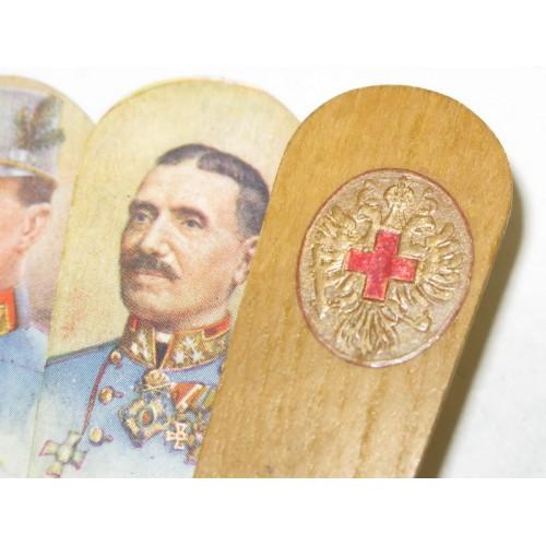 Patriotischer Fächer zugunsten der Kriegsfürsorge und des Roten Kreuzes