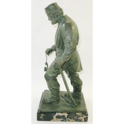 Johann Friedrich Reusch, Bergmann mit Lampe und Spitzhacke
