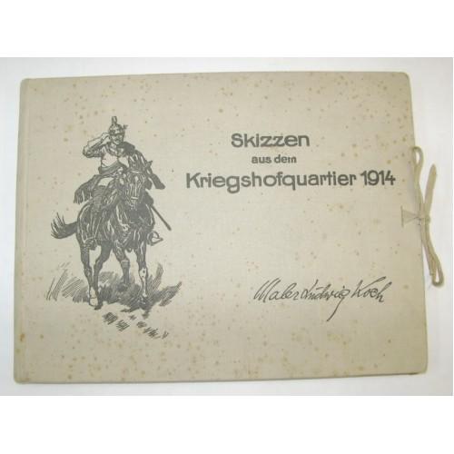 Skizzen aus dem Kriegshofquartier 1914 vom Maler Ludwig Koch