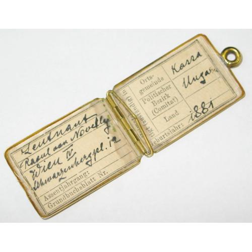 Legitimationskapsel für Offiziere  Kaiser Franz Joseph I.