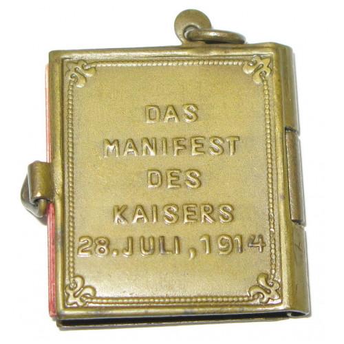 An meine Völker, Das Manifest des Kaisers 1914