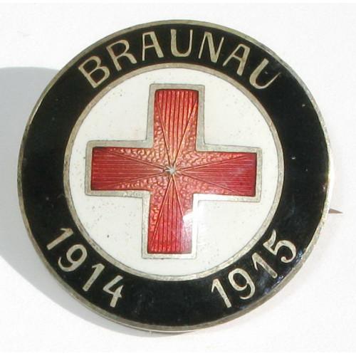 k. u. k. Monarchie Rot Kreuz Brosche, Braunau 1914 - 1915