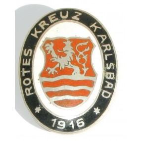 k. u. k. Monarchie Rot Kreuz Brosche, Karlsbad 1916