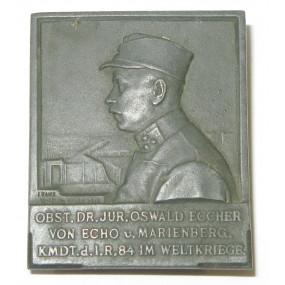 K. u. K. Kappenabzeichen, OBST. DR. JUR. OSWALD ECCHER VON ECHER u. MARIENBERG