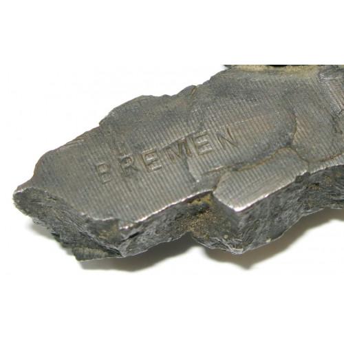 2. Weltkrieg Brieföffner aus Granatsplitter BREMEN 1942
