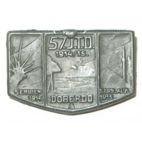 k. u. k. Kappenabzeichen, 57 J.T.D. 1914/15 DOBERDO