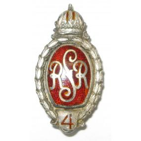 Echt Silbernes Kappenabzeichen, RSR4 Reitendes Schützenregiment 4