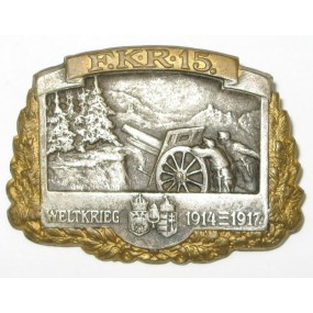 k. u. k. Kappenabzeichen, WELTKRIEG 1914 - 1917 F.K.R. 15