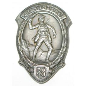 Kappenabzeichen, K. u. K. STURMBAON 58