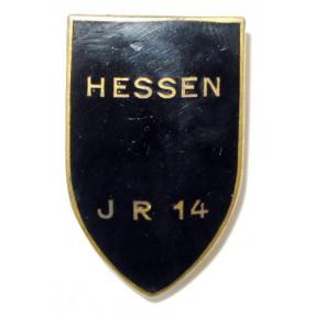 k. u. k. Kappenabzeichen, INF. RGT. 14 HESSEN
