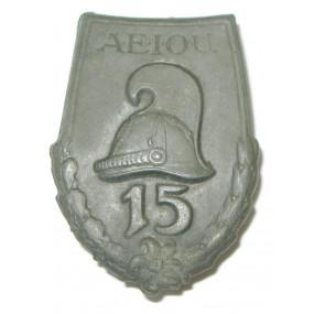 k. u. k. Kappenabzeichen, A.E.I.O.U. 15 DRAGONER