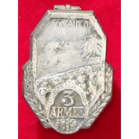 Echt Silbernes Kappenabzeichen, KARPATHEN 3. ARMEE 1914-15 !!!SILBER!!!