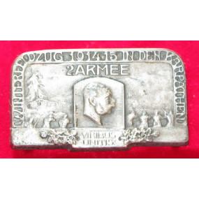 Echt Silbernes Kappenabzeichen, 2. ARMEE WINTERFELDZUG 1914-15 IN DEN KARPATHEN !!!SILBER!!!