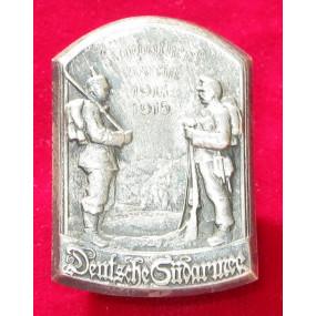 Echt Silbernes Kappenabzeichen, DEUTSCHE SÜDARMEE KARPATHENWACHT 1914-1915 !!!SILBER!!!