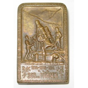 Kappenabzeichen, k. u. k. 30,5 cm Skoda Mörser 1914-1915-1916