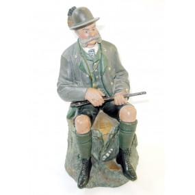 Tabaktopf mit Darstellung Kaiser Franz Joseph I. im Jagdkostüm