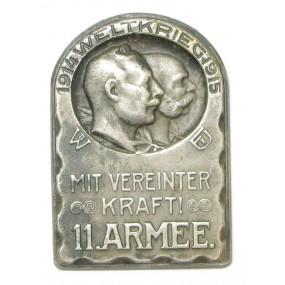 k. u. k. Kappenabzeichen, 11. ARMEE MIT VEREINTER KRAFT 1914 - 1915