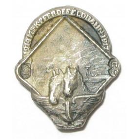 Echt Silbernes Kappenabzeichen, K.u.K. PFERDEFELDBAHN 1914-1917