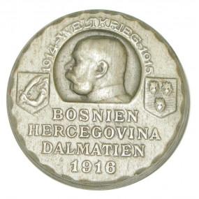 K. u. K. Kappenabzeichen, BOSNIEN HERCEGOVINA DALMATIEN WELTKRIEG 1916