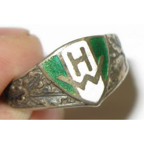 Österreichische Heimwehr, Emaillierter Silberring