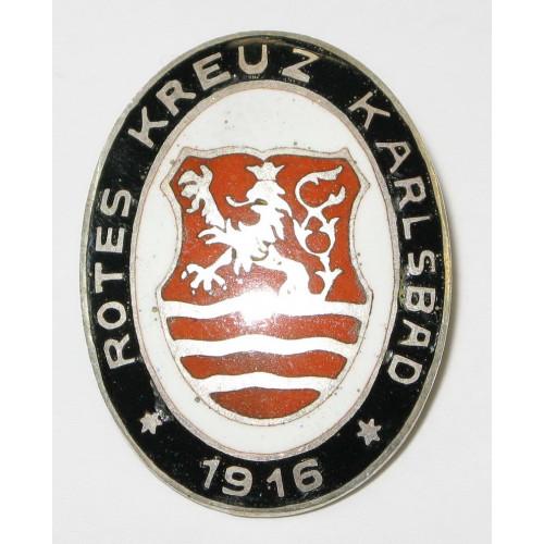 k. u. k. Monarchie Rot-Kreuz Brosche, Karlsbad 1916