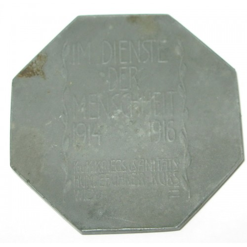 Medaille des K.u.K. Kriegs-Sanitäts-und Hundeführer Kurses in Wien 1914-1916