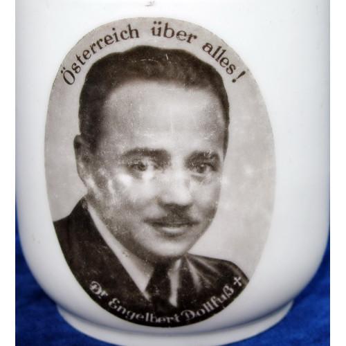 Patriotisches Heferl/Tasse Dr. Engelbert Dollfuß, Österreich über alles!
