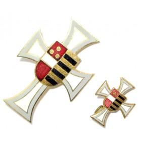 Kappenabzeichen,  IR 49 Freiherr v. HESS Hesser Kreuz
